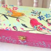 Vintage Birds Box RESERVED FOR CLOTIQUE
