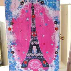 Paris ook jewellery box